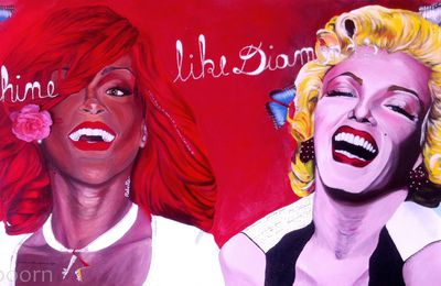 Painting : Shine like diamonds! / Brillez tels des diamants! (Rihanna - Marilyn Monroe)