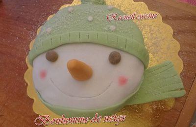"""Bonhomme de neige """"gâteau d'anniversaire"""""""