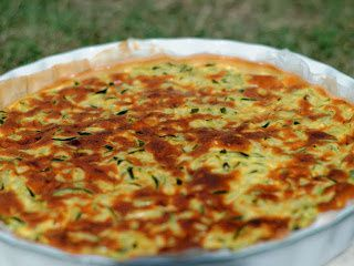 Tarte aux courgettes,curry, coco