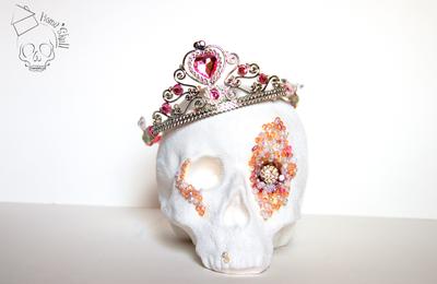 Tête de Mort, Skull Princess Pink Pearl < VENDU >
