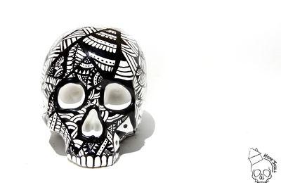Tête de mort, vanité, Skull Skull Ethnique n°1