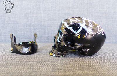 """Home'Skull Tête de mort, vanité, crâne, Skull Small NOUVELLE COLLECTION """" Je sais ... on est plusieurs dans ma tête """" N°3"""
