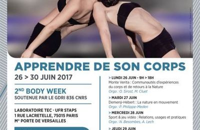 Body Week 2 - APPRENDRE DE SON CORPS