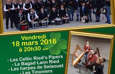 La Saint Patrick 2016 avec Le Celtic Ried's Pipers