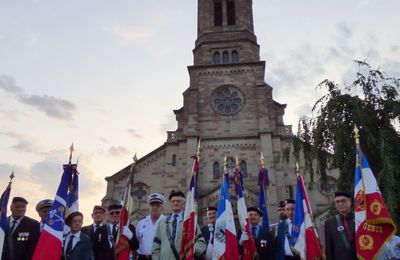Commémoration du 75ème anniversaire du 25 août 1942 avec l'UNC de Dessenheim