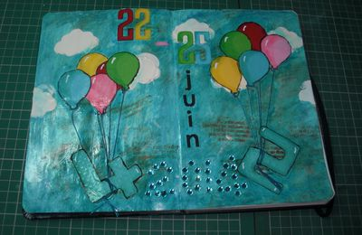 2ème page d'art journal!