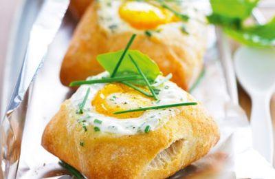 Petits pains à l'œuf cocotte
