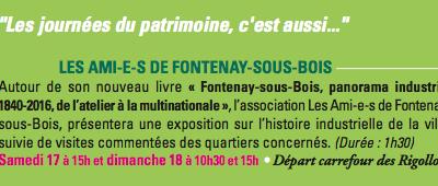 Fontenay industriel aux Journées Européennes du Patrimoine 2016