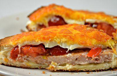 Croque burger au poulet