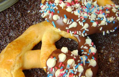 Bretzel aux 2 chocolats