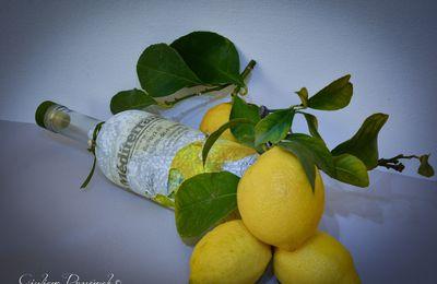 Bottiglia con limoni