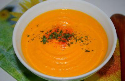 Velouté de carottes miel gingembre
