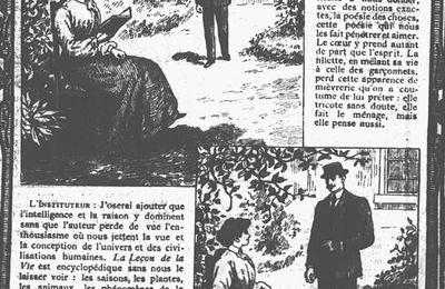 """Publicité : Justin Boex """"La Leçon de la Vie"""" (1910)"""