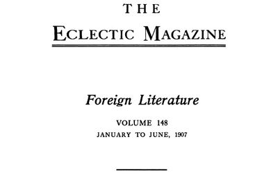 J.-H. Rosny aux USA : The Eclectic magazine (1907)