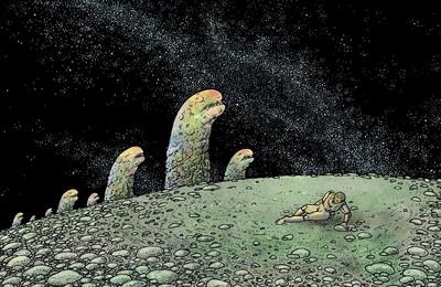 "J.-H. Rosny aîné ""The Dead Earth"", illustrations de Mahendra Singh"