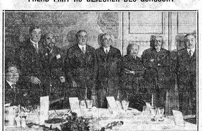"""Anonyme """"Pour la première fois depuis 1913, M. Lucien Descaves prend part au déjeuner des Goncourt"""" (1932)"""