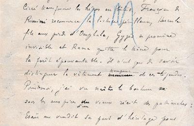 """J.-H. Rosny aîné """"Le Plat de lentilles"""" (Manuscrit - s.d.)"""