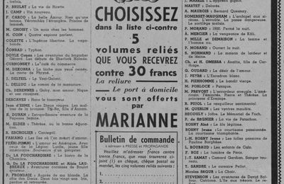 Ouvrages offerts en prime aux lecteurs de Marianne (1936)