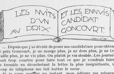 Robert Dieudonné - Les Nuits et les ennuis d'un candidat au prix Goncourt (1928)