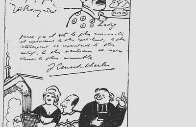 """J.-H. Rosny aîné, réponse à l'enquête sur """"Les héros de notre littérature romanesque"""" (1925)"""