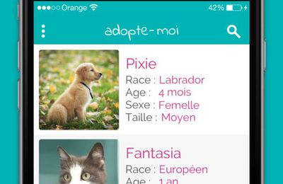 Adopte-moi, une application par Wamiz