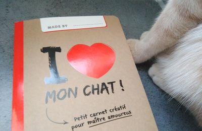 Je suis fan de mon carnet créatif I ❤️ mon chat !