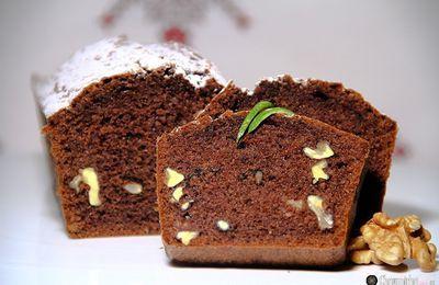 كيك بالشكلاطة والجوز / Cake au chocolat et noix
