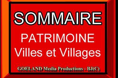 PATRIMOINE - VILLES et VILLAGES - PORTES et HEURTOIRS - SOMMAIRE -