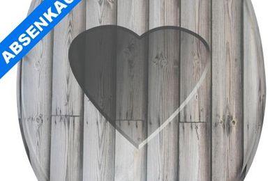 WC Sitz mit Absenkautomatik * Wooden Heart *