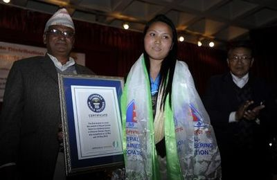 Nepali becomes first woman to climb Everest 'twice' in a week