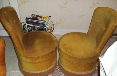 2 mini fauteuils velours - 40€