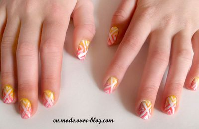 "En mode... Nail art ""tribal summer"""
