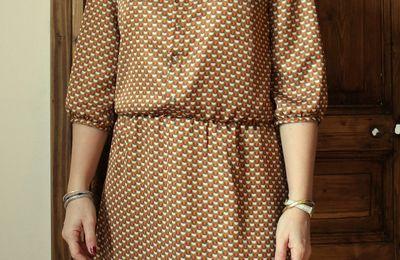 Robe (et puis blouse) Agnès d'automne