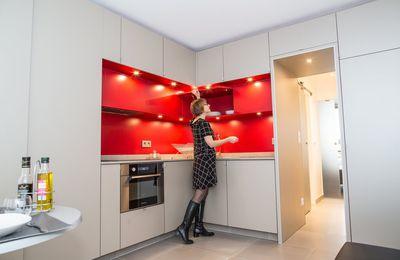 """""""Eclat de rouge"""", 26 m2 optimisé"""