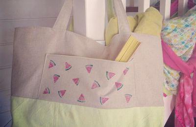 Un sac de plage pastèque