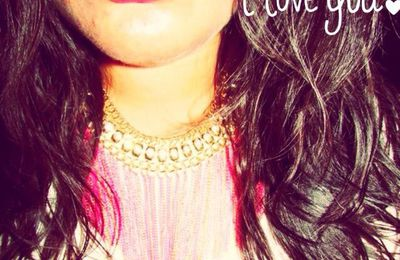 Mon collier Rose Bonbon ,My Pink Necklace, O meu colar cor de rosa