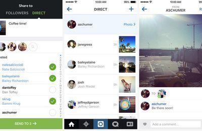 Instagram direct : à défaut de pouvoir l'acheter, Facebook contre Snapchat