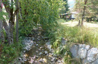 Le sentier de l'eau à Gresse en Vercors.