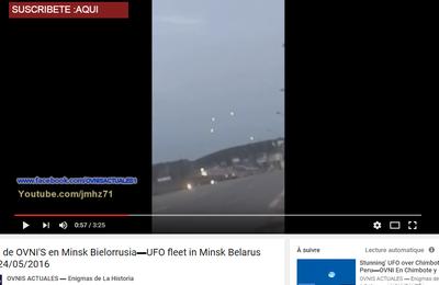 Ovnis filmés à Minsk en Biélorussie le 24 mai 2016