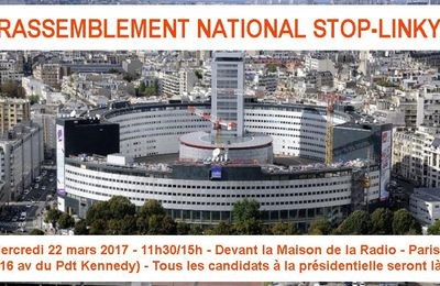 Rassemblement national STOP-LINKY le 22 mars