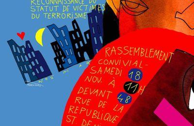 Rassemblement de soutien aux victimes de l'assaut antiterroriste de Saint-Denis
