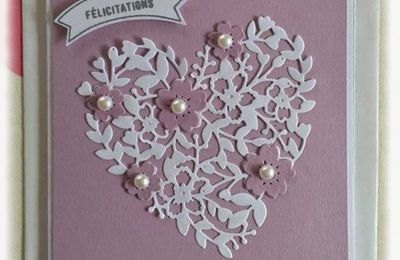 Carte mariage coeur