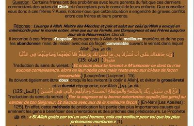 Tes parents commettent du Shirk (polythéisme) que faire ?