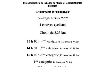 [Cyclosport] Course de MORSAIN du 16/07/17