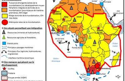 Bac 2016 Croquis L'Afrique face aux défis du développement