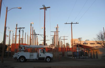 Los Angeles: Nursery power poles