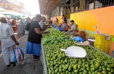 Guyane: Then, the market...