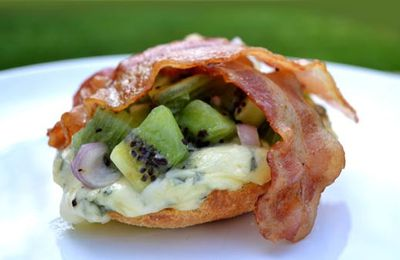 Tartine Kiwi, Bacon et Bleu