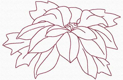 centre de table poinsettia TP