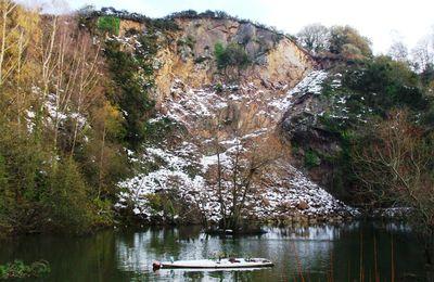Les carrières de Kérity sous la neige (PAIMPOL-Beauport)